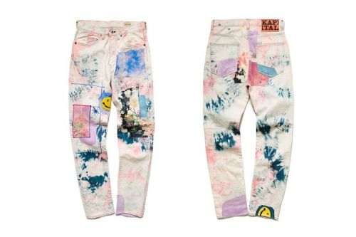 "KAPITAL Re-Releases Its 12oz OKABILLY Gypsy Patchwork Denim in ""Ashbury Dye"""