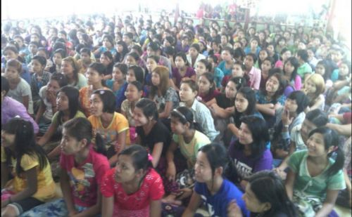 Myanmar: female garment workers attacked while on strike