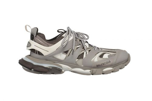 Balenciaga's Hiking-Inspired TRACK Sneaker Now Comes in Cool Grey Colorway