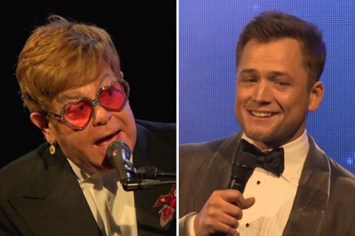 Elton John performs with 'Rocketman' star Taron Egerton at Cannes premiere