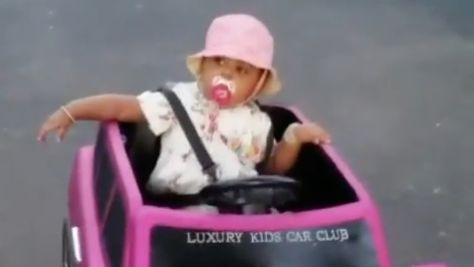 Cardi B Shares Cute New Clip of Daughter Kulture Driving a Car and We're in Tears, OK?!