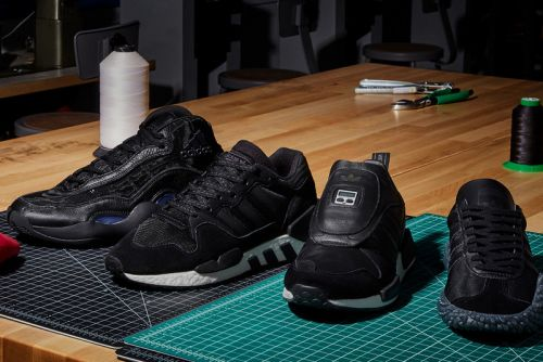 "Adidas Originals Continues Its ""Never Made"" Releases With Triple Black Colorways"