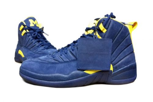 """The Public School New York x Air Jordan 12 """"Michigan"""" Gears up for a General Release"""