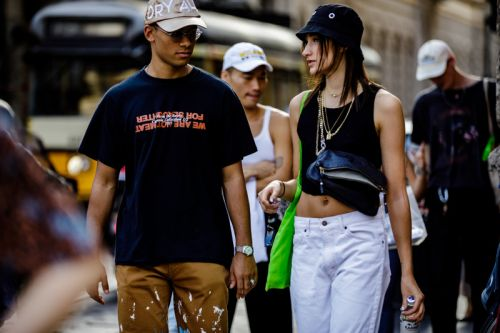 Milan Fashion Week SS19 Street Style Flaunted Streetwear Staples