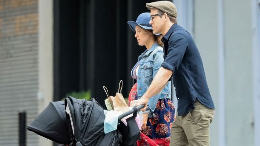 Blake Lively and Ryan Reynolds Take Their Two Daughters for a Stroll in New York City