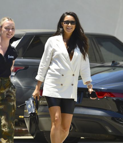 Pregnancy Style On Point! Shay Mitchell Shows Off Her Growing Belly in Chic White Blazer