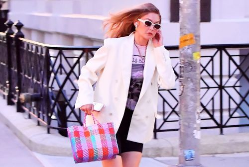 Gigi Hadid Just Wore the Cutest Woven Rainbow Bag - And It's Actually Affordable! Here's How to Get the Look