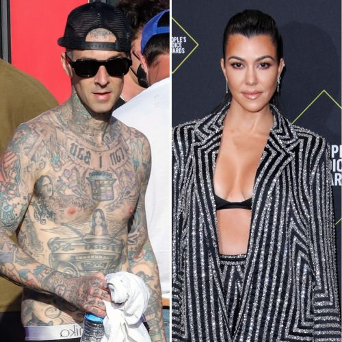 Travis Barker Gets Girlfriend Kourtney Kardashian's Name Tattooed on His Chest: Photos