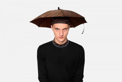 Conquer the Rain in Style With Fendi's Headband Umbrella