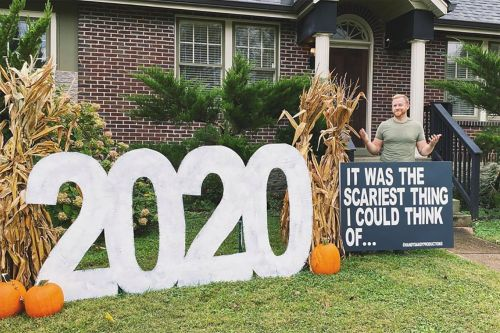 Man thinks of 'the scariest thing' for his Halloween 2020 decor