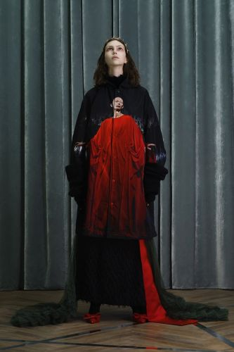 Undercover made a Suspiria-inspired coat with Tilda Swinton on it
