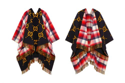 Gucci's Reversible Wool Poncho Is Brimming With Heritage Accents
