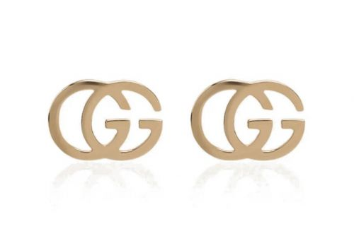 """Gucci's 18K Gold """"GG"""" Motif Running Earrings Are a Signature Summer Statement"""
