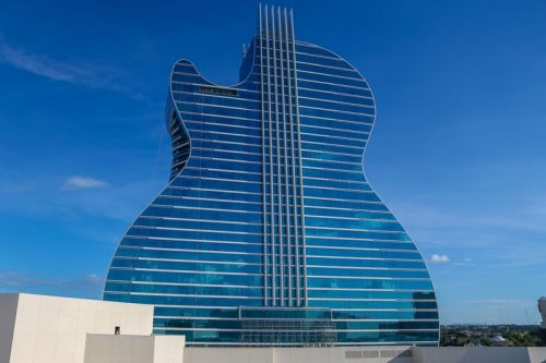 Hard Rock Hotel Opens World's First Guitar-Shaped Hotel