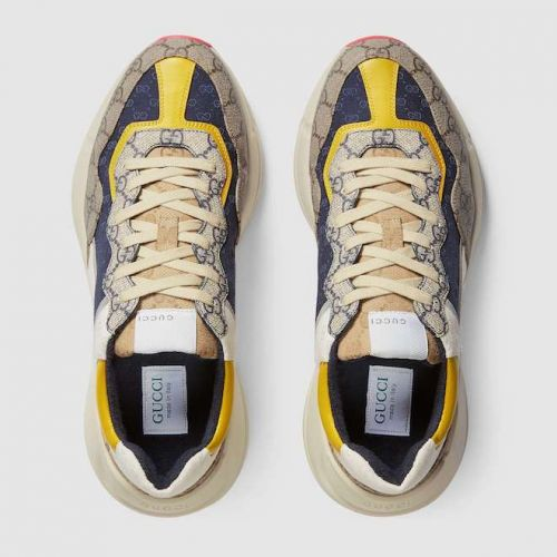 """Multicoloured Gucci Rhyton GG monogram sneakers makes """"dad"""" sneakers hype"""