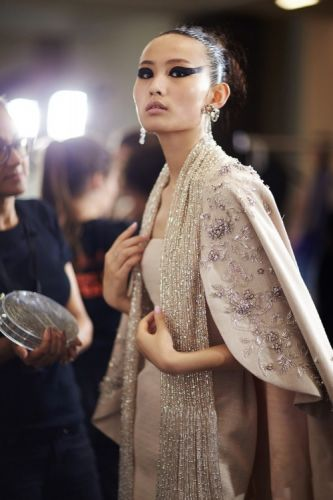 A focus on the backstage details - GEORGES HOBEIKA Haute Couture