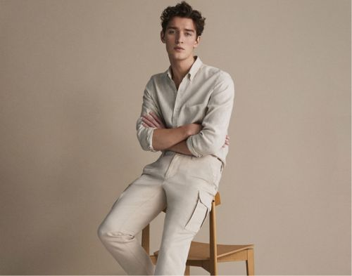 Otto Lotz Dons Massimo Dutti Spring '19 Linen Collection