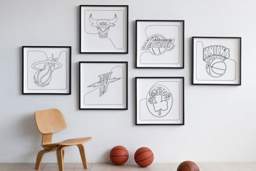 Andy Blank Unveils Limited-Edition NBA Logo Prints