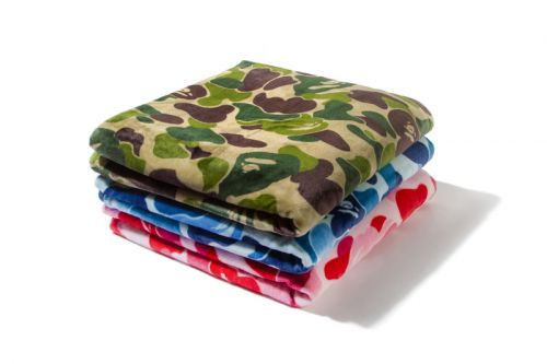 Get Cozy With BAPE's ABC CAMO Blankets
