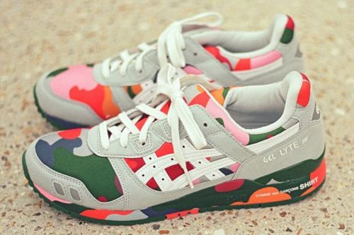 COMME des GARÇONS SHIRT Covers the ASICS GEL-Lyte III in Colorful Camo Print