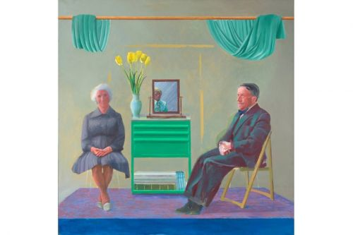 David Hockney to Publicly Unveil 1975 'My Parents and Myself' Painting