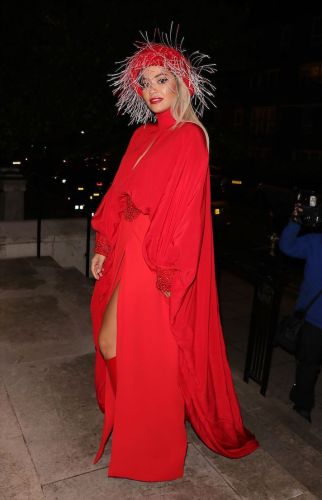 Rita Ora Looks Like Little Red Riding Hood's Sexy Older Sister in This Chic Esemble