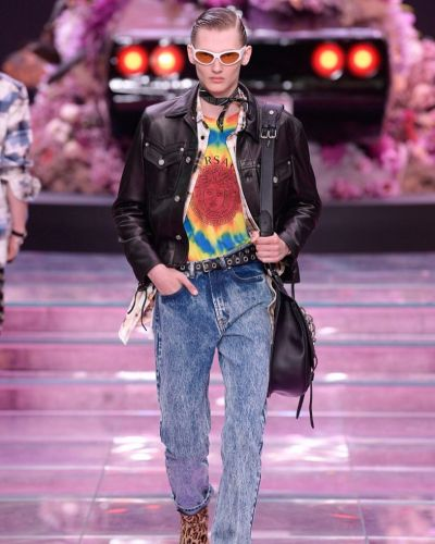 New Wave, 90s rave, and an homage to Keith Flint at Versace SS20