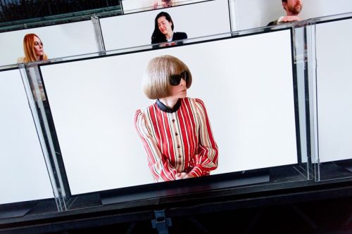 Anna Wintour and other VIPs joined Balmain's FROW on TV screens