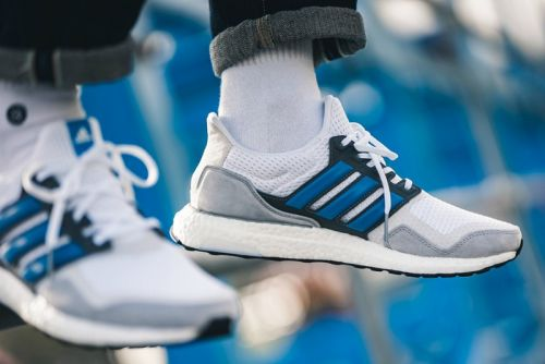 Adidas' Grey & Blue Ultra Boost S&L Emphasizes Luxe Fabrics & Modern Style