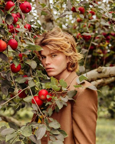 Jordan Barrett Embraces Rustic Autumn Style with VMAN