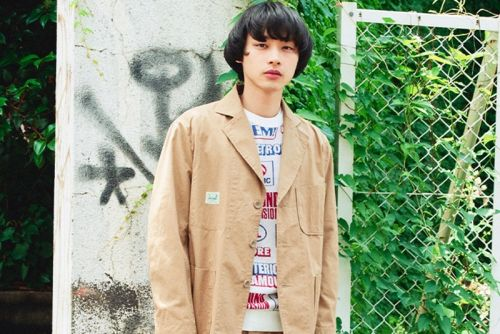 HYSTERIC GLAMOUR Crafts Khaki Suit from Sustainable Fabrics