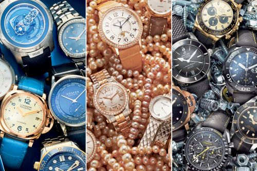 Fall's hottest watch trends: Chic blue streak, modern man's noir and diamond-studded dazzlers