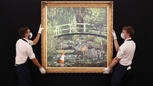 Banksy's parody of a Monet painting sells for £7.5m at auction
