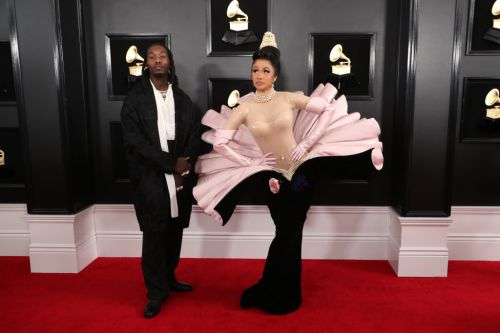 Cardi B Walked the Grammys Red Carpet with Offset & Fans Aren't Happy