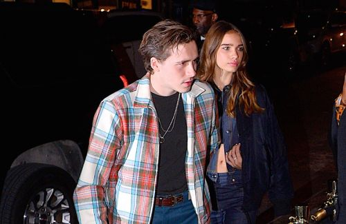 Hana Cross Joins David, Victoria and Boyfriend Brooklyn Beckham for a Night Out in NYC