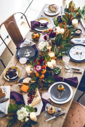 Chic Thanksgiving Tablescape Inspiration From PinterestWith