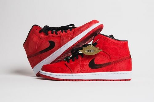 CLOT's Silk-Equipped Air Jordan 1 Mid Appears in Vivid Red Silk