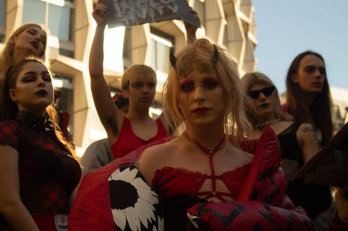 A group of trans activists just held a protest fashion show on the Strand