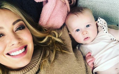 Hilary Duff Shares Emotional Video Hugging Her Newborn Daughter Moments After Home Birth