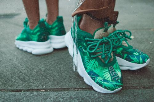 Concepts References J-Lo for Jungle-Themed Versace Chain Reaction Collaboration