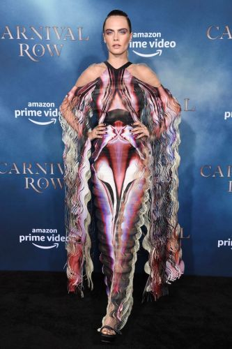 Cara Delevingne Looks Like a Butterfly Bursting Out of Its Cocoon In This Dress-and I'm Weirdly Into It