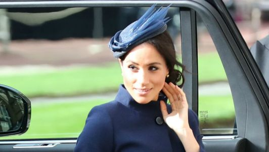 Meghan Markle Wore a Thing: Navy Givenchy Coat Dress Edition
