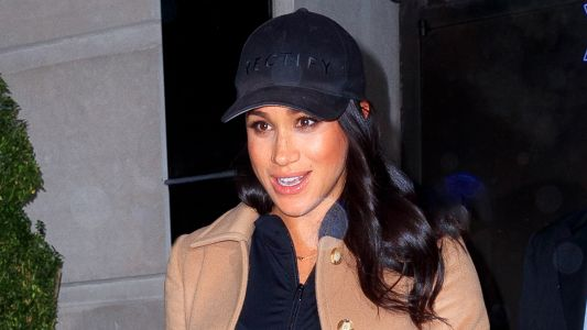 Meghan Markle Looks Cozy and Casual While Rocking a Baseball Hat in NYC