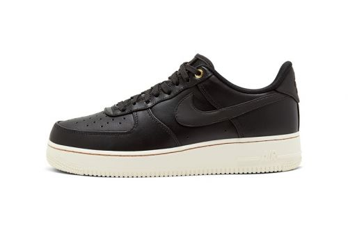 """Nike Air Force 1 """"Black Pack"""" Features Wear-Away Detailing"""