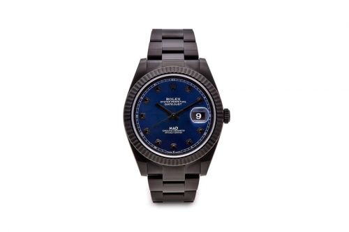 MAD Paris' Rolex Datejust 41 Makes a Bold Black and Blue Statement