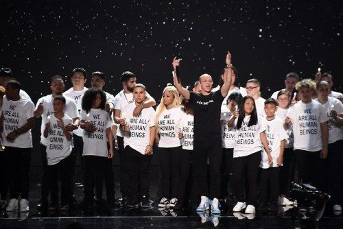Migrant Families Joined Logic at the VMAs to Protest Donald