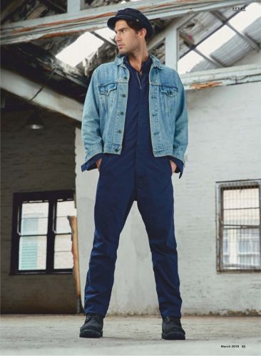 Denim on the Double: Mitchell Wick for Men's Health Australia