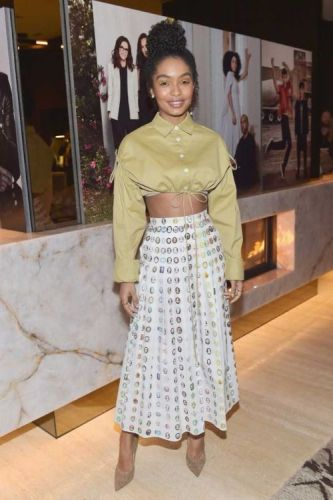 Yara Shahidi Sells Us On the Maxi SkirtYara's warm weather chic