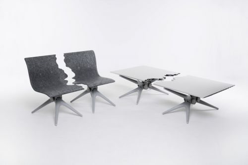 """Snarkitecture & Pentatonic Unite For """"Fractured"""" Furniture Collection"""