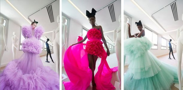 Retro, modern, art and glam | haute couture